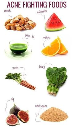 Acne fighting Healthy foods - prepare this tips for the boys! :D