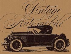 Vintage Auto Clip Art  JustSomethingIMade.com