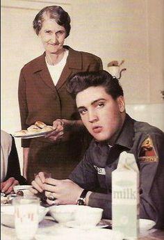 Elvis and Minnie Mae Presley *his grandmother*