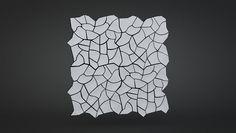 cracked earth concrete tile ~ hugo bugg | kaza concrete