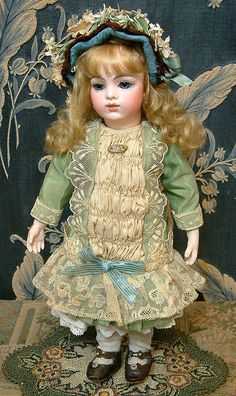 "12.5"" Sumptuous & Fabulous And Rare BRU Jne BEBE On Chevrot Body! from kathylibratysantiques on Ruby Lane"