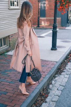 Fall outfit inspiration in blush - Jess Kirby