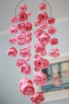 35 Awesome Nursery Mobiles Design: 35 Awesome Nursery Mobiles Design With Rose Flowers Ornament Diy Bebe, Ideias Diy, Nursery Inspiration, Nursery Ideas, Room Ideas, Nursery Themes, Nursery Colours, Themed Nursery, Everything Baby