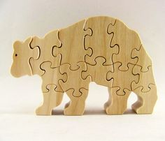 Bear Wood Puzzle by rjawoodworking on Etsy