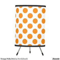 Orange Polka Dots Floor Lamp This design is available on many products! Click the 'available on' tab near the product description to see them all! Thanks for looking!  @zazzle #art #polka #dots #pattern #gift #color #black #white #blue #green #orange #yellow #purple #aqua #shop #buy #fun #chic #modern #classic #simple #easy #design #lamp #floor #home #decor