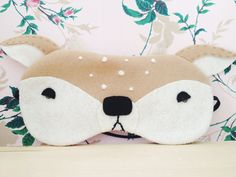 Fawn Sleeping Mask by FrenchyPink on Etsy (sleepy eye faces)