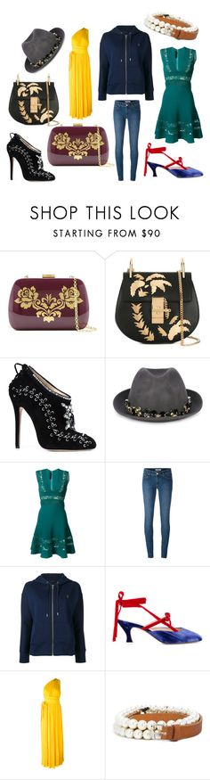 """""""casual wear dress"""" by monica022 ❤ liked on Polyvore featuring Serpui, Chloé, Marchesa, Le Chapeau by Alakazia, Elie Saab, Levi's, Polo Ralph Lauren, Attico, Dsquared2 and Peter Jensen"""