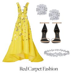 """""""Oscar ready"""" by leclairalexandra ❤ liked on Polyvore featuring Monique Lhuillier, Yves Saint Laurent, Effy Jewelry and Harry Winston"""