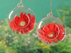 Resultado de imagem para globo de vidro para flores
