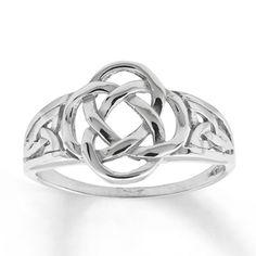Women's Celtic Knot Ring 14K White Gold