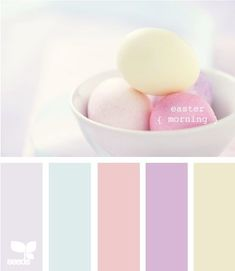 Gray, turquoise, blue, coral, pink, purple, yellow, pastel