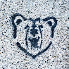 Black Bear #blackpaint #blackspraypaint #blackbear #graffiti #streetart #urbanart #visualarts #streetarteverywhere #instapic #streetartphotography #streetartphoto #stencilart #stencil #bear #berlinbear #logo #sign #berlin