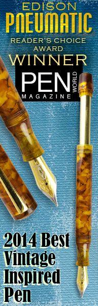 Edison Pneumatic Winner of Pen World Award