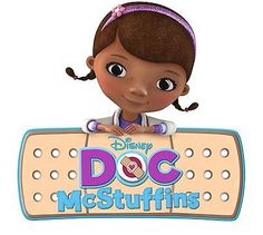 "Doc McStuffins Iron On Transfer 5"" x 5.5"" for LIGHT Colored Fabric"