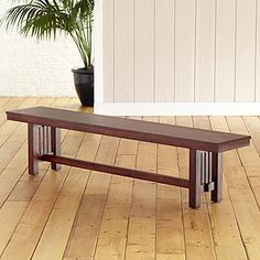 World Market Mission Style Dining Bench I Could See This Along The Hallway By Front Door