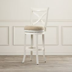Darby Home Co Accera Swivel Bar Stool Tall Bar Stools, Bar Stool Seats, Swivel Bar Stools, Kitchen Stools, Counter Stools, Kitchen Sink, Kitchen Storage, Kitchen Dining, French Country Bar Stools