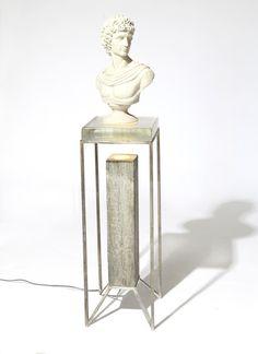 Post Pedestal by Codor Design - unique way to display sculpture. Art Deco Furniture, Design Furniture, Table Furniture, Cool Furniture, Console Design, Pedestal Side Table, Sculpture Stand, I Love Lamp, Diffused Light