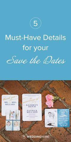 5 Things you Must Include on your Wedding Save the Dates - see them all on @weddingwire! {Brooke Images. A wedding photography company}