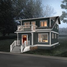 Bldg Studio Inc. has a wide variety of stock plans available for purchase. Contact us to customize a preferred stock plan or purchase it as-is instantly. 1200sq Ft House Plans, Two Storey House Plans, Cottage House Plans, Best House Plans, Small House Plans, Floor Plans, 1200 Sq Ft House, House With Balcony, Open Concept Home