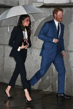 Meghan Markle and Prince Harry Just Wore Suits Together and We're in Love