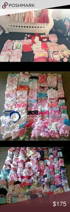 Baby girl lot 400+ 3-6 months & 6-9 months. Dresses, skirts, shorts, pants, jeans, leggings, tights, sweaters, jackets, tank tops, tshirts, dressy shirts, long sleeve shirts, vest, sleepers, hats, bibs, socks, shoes, bloomers, boutique outfits. Ect. 400+ outfits. All name brand, gap, Oshkosh, carters, Calvin Klein, Michael kors. Ect. Michael Kors Other