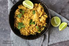 Poulet et riz aux saveurs thaï – Travel & Food