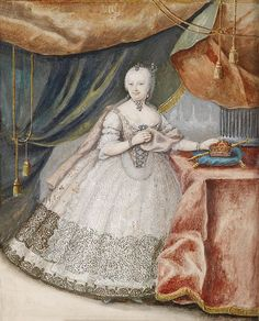 size: Giclee Print: Portrait of Empress Maria Theresia of Austria in Lace Long Gown, C. Austria, Maria Theresia, Art Through The Ages, Rococo Fashion, Different Kinds Of Art, Holy Roman Empire, 18th Century Fashion, Old Paintings, Marie Antoinette