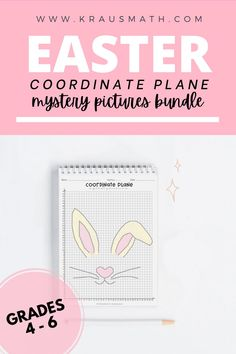 Coordinate Planes Mystery Picture: 1st Quadrant & 4 Quadrant Pictures Included. Coordinates include whole numbers AND fractions! (half values only) TWO grids provided that have lines for each half mark, or another grid without the extra half lines! #easter #holiday #homeschool #spring