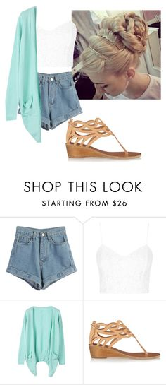 """Untitled #306"" by flashinglights-397 on Polyvore featuring WithChic, Topshop and Ancient Greek Sandals"