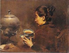 A Arte em Portugal: Columbano Bordalo Pinheiro - A Chávena de Chá (1898, MNAC)