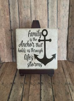 Family is the anchor, anchor hopes sign family sign, family decor, wall art of…