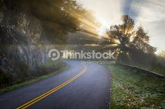 Best Summer Ever Stock Photo : Blue Ridge Parkway North Carolina Sun Rays