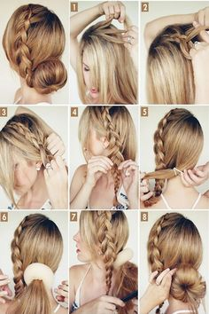 Luce hermosa con este súper fácil peinado con trenzas.  Peinados con trenzas   Braided hair long   Chongos recogidos con trenzas   #peinados #cabello