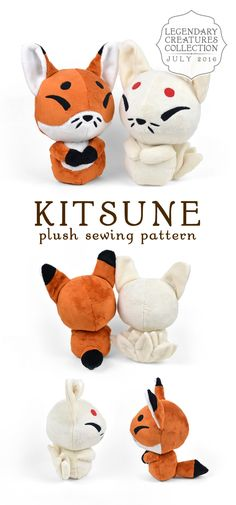 201607 Sewing Toys, Sewing Crafts, Sewing Projects, Craft Projects, Cute Crafts, Felt Crafts, Fabric Crafts, Sewing Stuffed Animals, Stuffed Animal Patterns