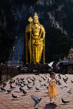 Batu Caves, Gombak, Malaysia. Aileen and Jason recently went there. It's stunning!