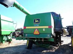 John Deere 9600 combine salvaged for used parts. This unit is available at All States Ag Parts in Bridgeport, NE. Call 877-530-5010 parts. Unit ID#: EQ-23659. The photo depicts the equipment in the condition it arrived at our salvage yard. Parts shown may or may not still be available. http://www.TractorPartsASAP.com