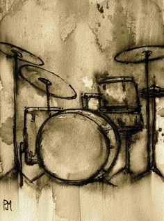 Vintage Drums Painting - Vintage Drums Fine Art Print