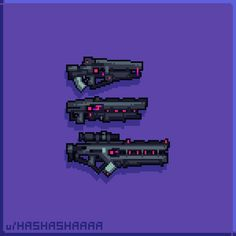 Sci Fi Weapons, Fantasy Weapons, Game Concept Art, Weapon Concept Art, Top Down Game, Pixel Drawing, Pixel Animation, Pixel Art Games, Futuristic City