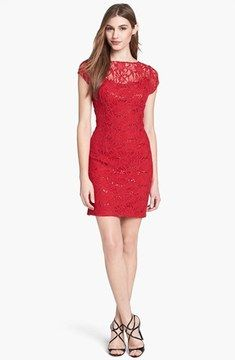 Adrianna Papell Hailey by Embellished Lace Sheath Dress (Online Only) on shopstyle.com
