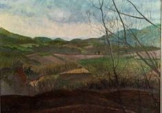 """Tuscan Sunset"" Original Gouache/canvas Available through artist"