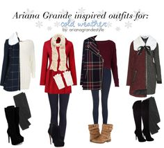 So, I don't like Ariana Grande, but these outfits are cute