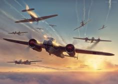 Commisioned illustration for Battle of Britain Combat Archive Vol. 3 by Simon W. Parry. 3D models by Wojciech Kliment Niewęgłowski and Dariusz Markiw. Scene, textures and illustration by Piotr Forkasiewicz. Copyright by Simon W. Parry More info on the bo…