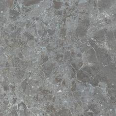 CARIBBEAN GREY (HONED):  Warm Grey with sporadic swatches of chestnut color splash or veining. Marble Stones, Warm Grey, Color Splash, Caribbean, Swatch, Tile Floor, Color Schemes, R Color Palette, Paint Splats