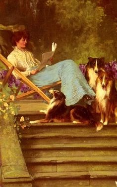 Among Friends (detail), 1893. Arthur Wardle, 1864-1949, English. Wardle was best known for his paintings of domestic and wild animals, as we...