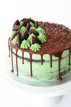 Amazing Mint Chocolate Layer Cake   Sweetest Menu
