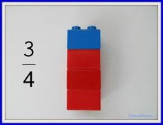 Lego Fractions: Hands-On Learning | So You Call Yourself A Homeschooler? Imagining a station with many already made for students to label or labels for them to make