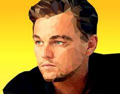 Leonardo DiCaprio - Low Poly Illustration on Behance
