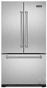 Viking VCFF236SS 21.8 Cu. Ft. Counter Depth French Door Refrigerator With  Spill