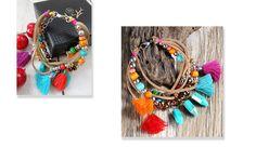 Bohemia Multilayer Tassel Charms Bracelets