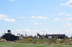 Crowds in the grand stands during the Accenture Match Play event in Marana, AZ